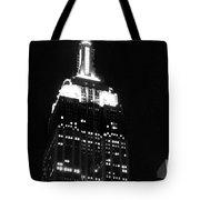 Empire State B W  Tote Bag