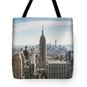 Empire State Building And Manhattan Skyline, New York City, Usa Tote Bag