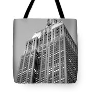 Empire State Building B W Tote Bag