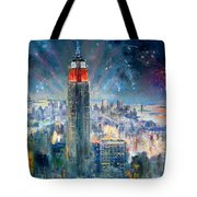 Empire State Building In 4th Of July Tote Bag