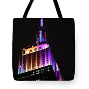 Empire State Building In Pastel Color Tote Bag