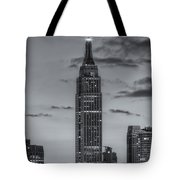 Empire State Building Morning Twilight Iv Tote Bag