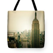 Empire State Building New York Cityscape Tote Bag by Vivienne Gucwa
