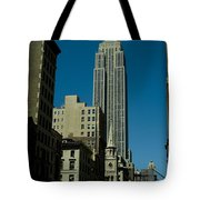 Empire State Building Seen From Street Tote Bag