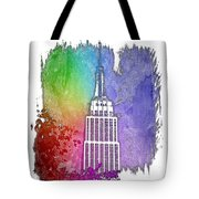 Empire State Of Mind Cool Rainbow 3 Dimensional Tote Bag