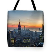 Empire State Sunset Tote Bag