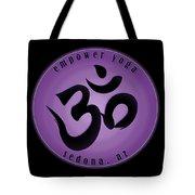 Empower Yoga- Purple Tote Bag