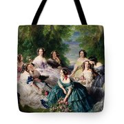 Empress Eugenie Surrounded By Her Ladies In Waiting Tote Bag by Franz Xaver Winterhalter