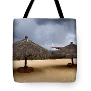 Empty Beach Due To Incoming Storm  Tote Bag