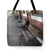 Empty Benches Tote Bag