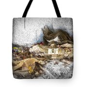 Empty Bottles And Discarded Pants Tote Bag