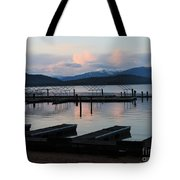 Empty Docks On Priest Lake Tote Bag