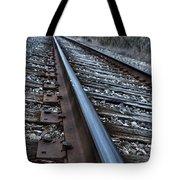 Empty Railroad Tracks Tote Bag
