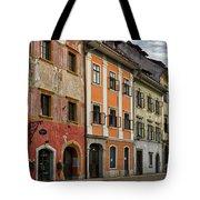 Empty Street In Slovenia Tote Bag