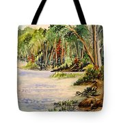 En Plein Air At Otter Falls Boat Launch Tote Bag