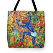 Encaustic  Man  Jumping Tote Bag