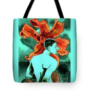Enchanted Boy With Lilies Tote Bag