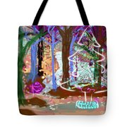 Enchanted Christmas Forest Tote Bag
