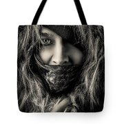 Enchanted Concept Black And White Tote Bag