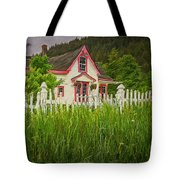 Enchanted Cottage With Picket Fence Tote Bag