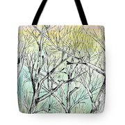 Enchanted Forest Music Tote Bag