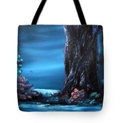 Enchanted Oak By Moonlight Tote Bag by Cynthia Adams