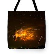 Enchanted Rock Lightning Tote Bag