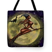 Enchanting Halloween Witch Tote Bag