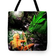Encounter With A Dragon Tote Bag