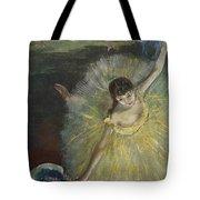 End Of An Arabesque Tote Bag by Edgar Degas