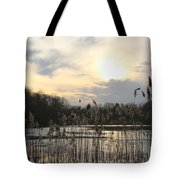 End Of Day At The Lake Tote Bag
