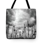 End Of Season Sunflowers Tote Bag
