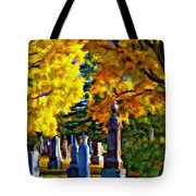 End Of The Road Impasto Tote Bag