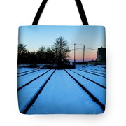 End Of The Tracks Tote Bag