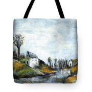 End Of Winter - Acrylic Landscape Painting On Cotton Canvas Tote Bag