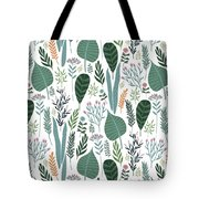 End Of Winter Spring Thaw Garden Pattern Tote Bag
