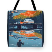Enderby Cliffs Retro Airstream Tote Bag