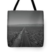 Endless Road Aerial Bw Tote Bag