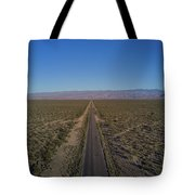 Endless Road Aerial  Tote Bag