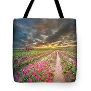 Endless Tulip Field Tote Bag
