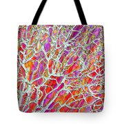 Energetic Abstract Tote Bag