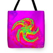 Energetic Bold Colors Starfish Tote Bag