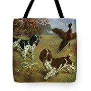 Energetic English Springer Spaniels Tote Bag