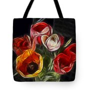 Energetic Tulips Tote Bag