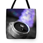 Engagement In Winter Tote Bag