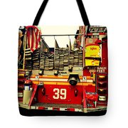 Engine 39 - New York City Fire Truck Tote Bag
