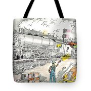 Engine On The Yard Tote Bag