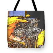 Engine Sketch 2 By Darrell Hutto Tote Bag