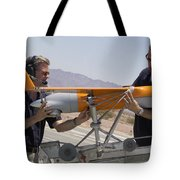Engineers Mount A Scaneagle Unmanned Tote Bag
