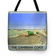 England Cambrian Coast Vintage Travel Poster Tote Bag